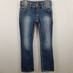 "Silver Suki 17"" Womens Boot Cut Medium Wash Jeans"